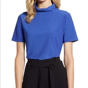 HALOGEN short sleeve turtleneck top